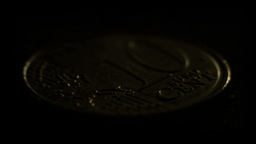 10 Euro cents coin Stock Video Footage