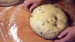 Kneading dough Stock Video Footage