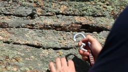 Rock climbing Stock Video Footage