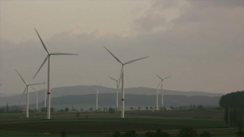 Windmills 7 HD1080p Stock Video Footage