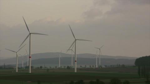 Windmills 7 HD1080p Stock Video Footage