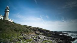 lighthouse galicia coast sea ocean Footage