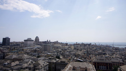 genova view italy city urban Footage