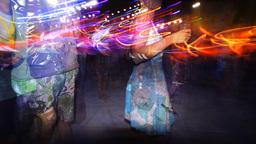 kazantip dancers festival rave music people club disco crowd Footage