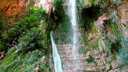 Waterfall in En Gedi, Israel, loopable Footage