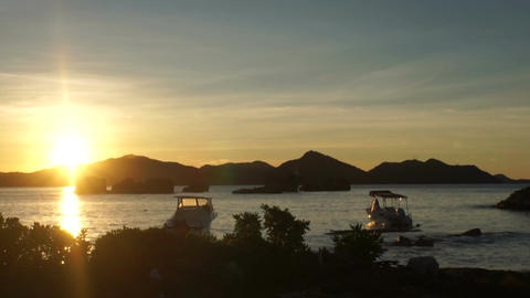 tropical sunset Stock Video Footage