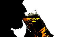 Beer silhouette big artificial Footage