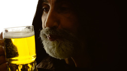 Beer silhouette friar copyspace Footage