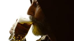 Beer silhouette friar drinking satisfaction Footage