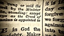 Book old religion dramatic words amen god Footage