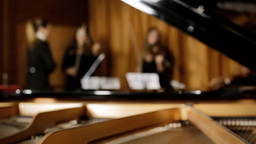 Classical music concert rehearsal defocus Footage