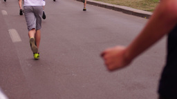 Children's Education in The Fight Against Obesity. Cross-Country.Laces Untied Footage