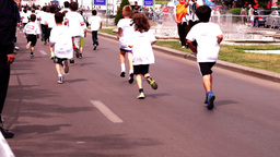 Children's Education in The Fight Against Obesity. Cross-Country Boys With Sound Footage