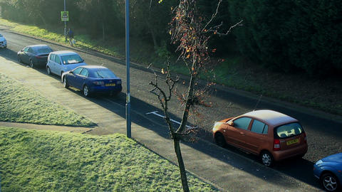 Frosty Day In England stock footage