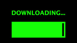 Downloading Progress Bar Simple 4k stock footage