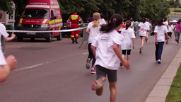 Children's Education in The Fight Against Obesity. Cross-Country Girls Footage