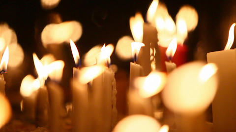 Religious Candles stock footage