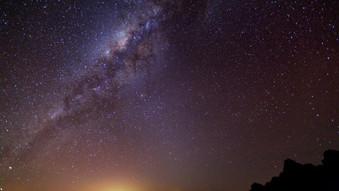 Milky Way time lapse Footage