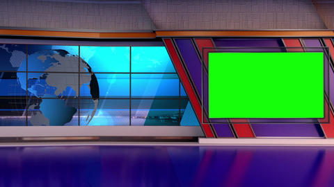 News TV Studio Set 66 - Virtual Background Loop Footage