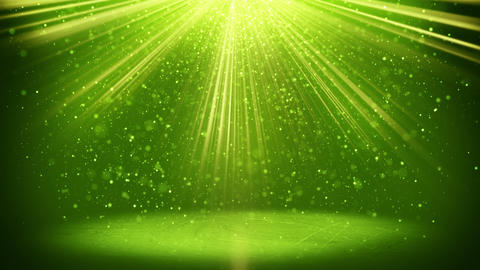 green light beams and particles loopable background 4k (4096x2304) Animation