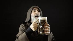 Friar big beer mug love Footage