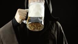 Friar big beer mug pleasure chest Footage