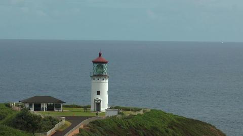 kilauea lighthouse at Kauai peninsula hawaii medium shot Footage