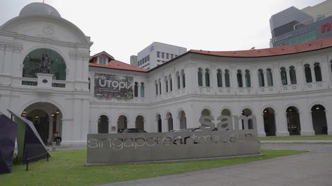 pan -Singapore art museum Stock Video Footage