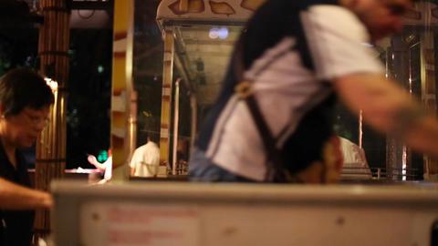 singapore night safari - people boarding tram Live Action
