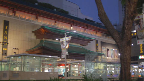 Evening - pan of Tang Plaza orchard road Footage