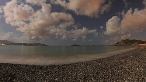 Calis Beach Night Timelapse Live Action
