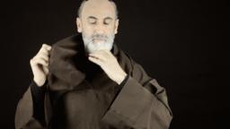 Friar dressing wearing habit sackcloth Footage