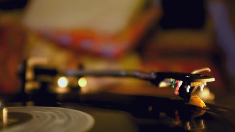 Dj Vinyl Record Spinning On Turntable Footage