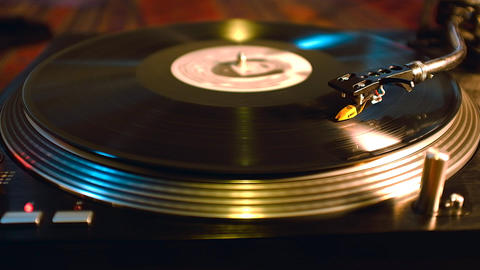 Dj Vinyl Record Spinning On Turntable Live Action