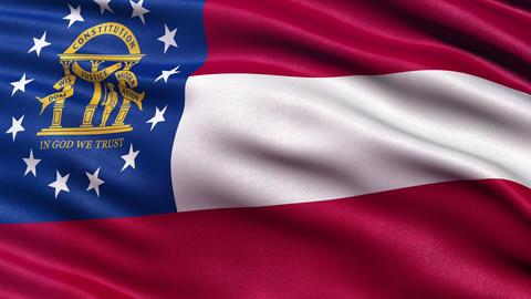 4K Georgia state flag seamless loop Ultra-HD Animation