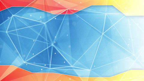 abstract triangle geometrical blue orange background loop Animation
