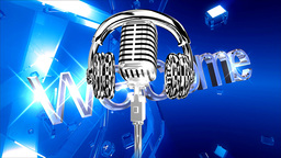 Microphone And Headphones. Welcome stock footage