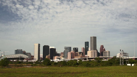 Houston Skyline Southern Texas Big City Downtown Metropolis ビデオ