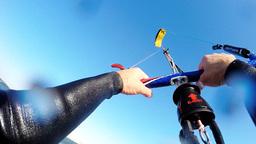 Kitesurfer POV ภาพวิดีโอ