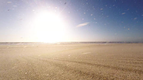 Windy Afternoon On The Beach stock footage