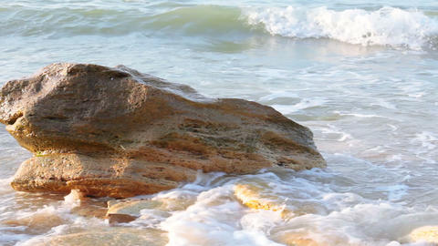 Surf And Stone At Dawn stock footage