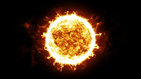 Sun with Solar protuberances and explosions. HD 1080. Looped animation Animation