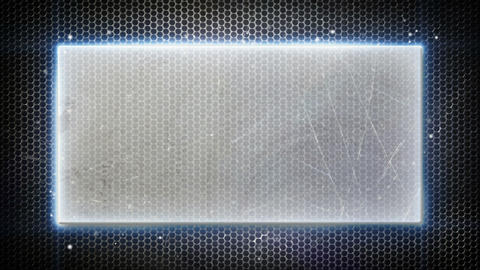 metal plate and neon lights loopable background Animation
