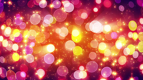 yellow pink bokeh lights loopable background Animation