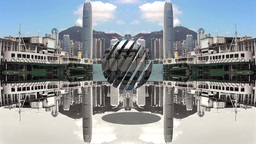 HONG KONG REFLECTION stock footage