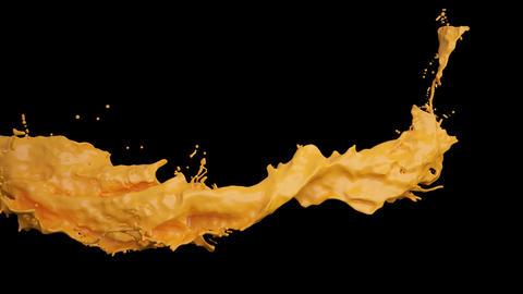 Fluid Splash In Motion 01 stock footage
