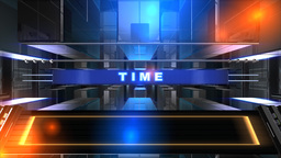 Countdown Before The News , Show , Telecasts stock footage