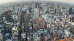 Timelapse Video Of Melbourne From Day To Night stock footage