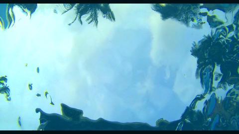 Slow Motion Blue Water Pool Original stock footage
