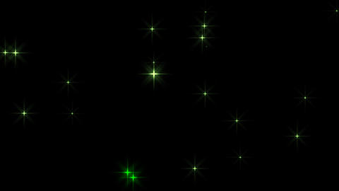 Twinkle Star danced slowly,loop material:Green (including alpha) Animation